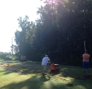 Bent Creek teebox renovation