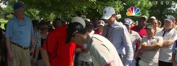 Rory in fan's pocket