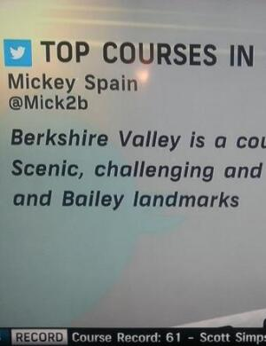 Berkshire Valley GC tweet