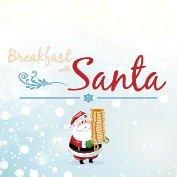 Breakfast with Santa at Centennial Park in Munster, Indiana