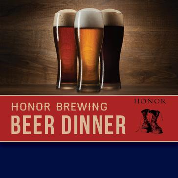 Honor Brewing Beer Dinner at 1757 Golf Club