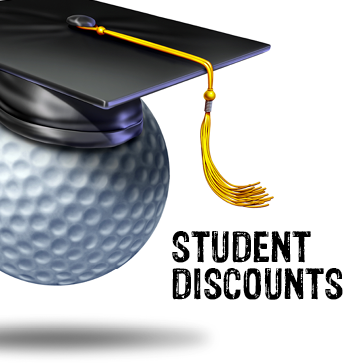 Student Discounts at the golf course