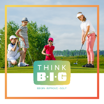 Part of the Think BIG instruction introducing junior clinics