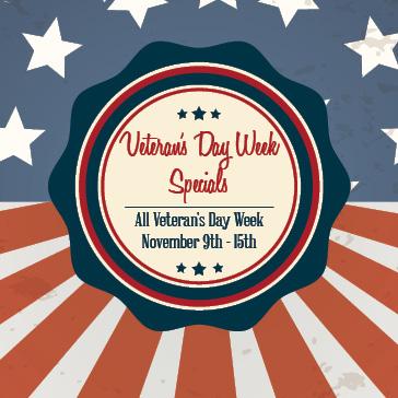 Veteran's Week Specials