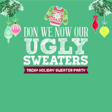 Ugly Sweater Party web banner event at Sanctuary Ridge Golf Club Florida