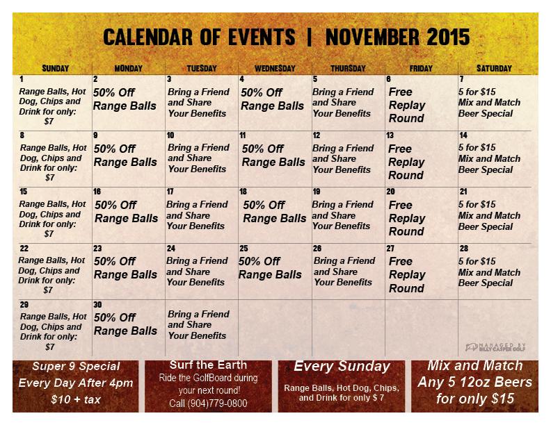 November Loyalty Calendar 2015