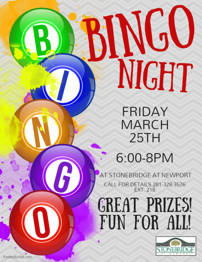 bingo night at stonebridge.