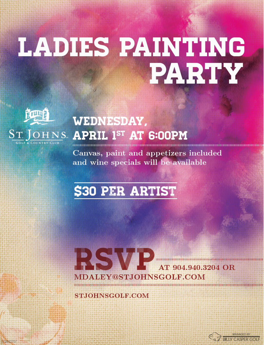 Ladies Painting Party 4/1/15