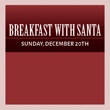 Breakfast with Santa at Water's Edge Golf Club