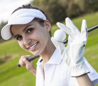 Women with golf ball web 364