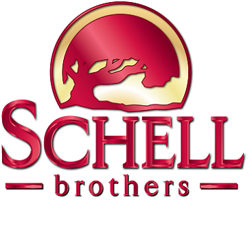 Shiny Red Schell Brothers logo