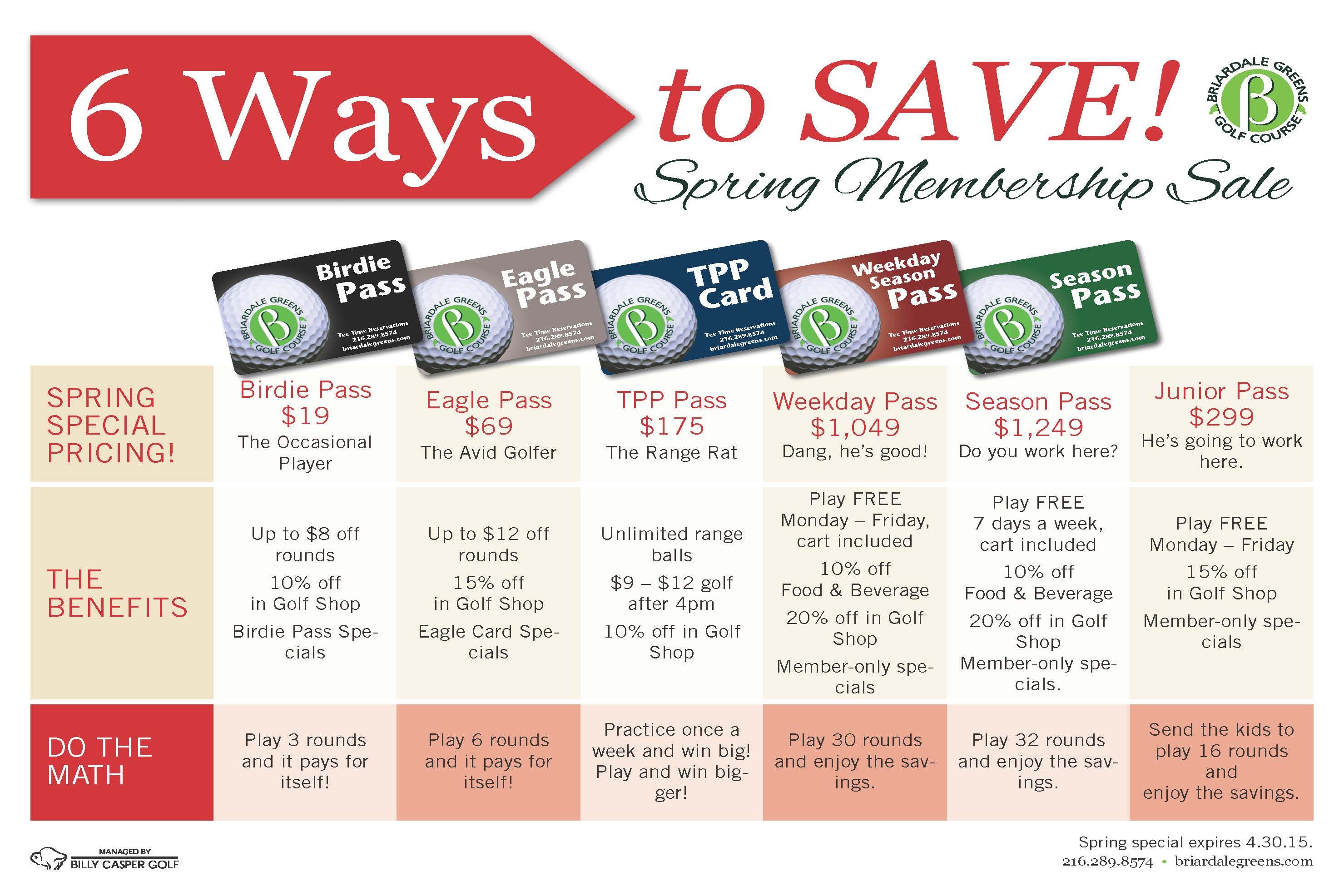 6 Ways to save at Briardale Greens Golf Course