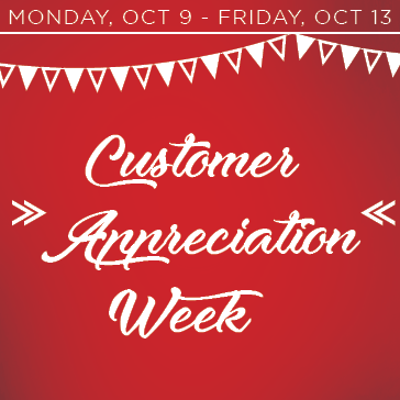 Customer Appreciation Week 2017