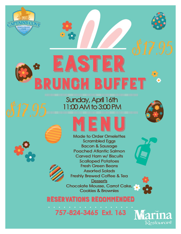Easter Brunch at The Marina Restaurant