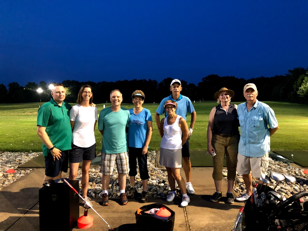 A date night golf instruction class at Broad Run Golf and Practice Facility in Bristow VA