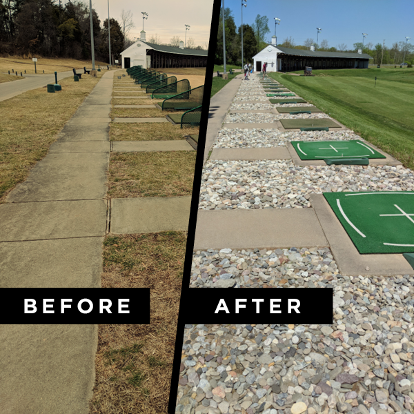 before and after driving range broad run renovation