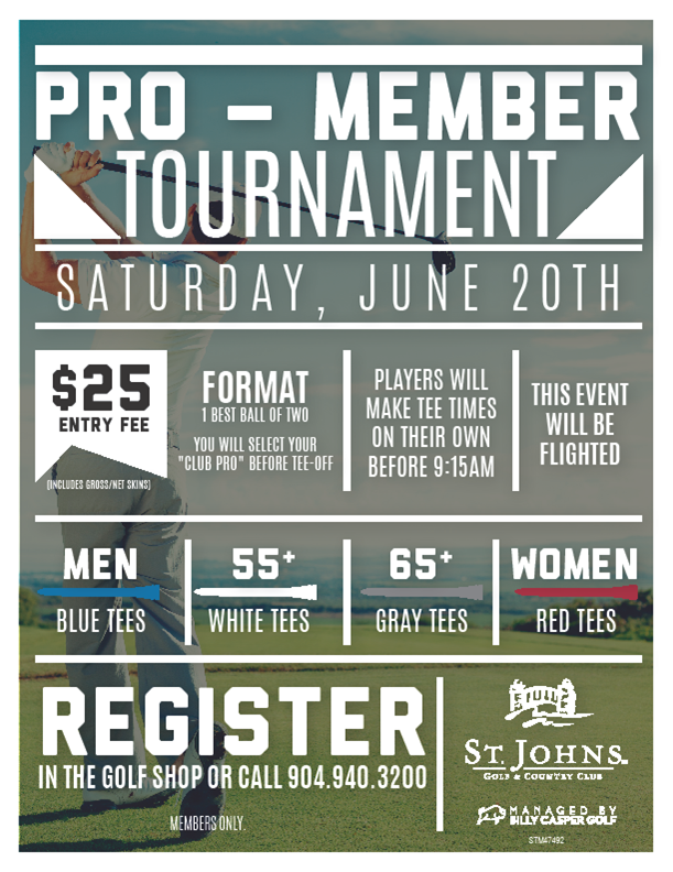 Pro Member Tournament St. Johns Golf & Country Club
