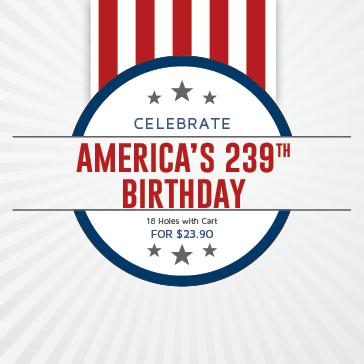 Celebrate America's 239th Birthday at Knoxville Municipal Golf Course with this golf and beer special
