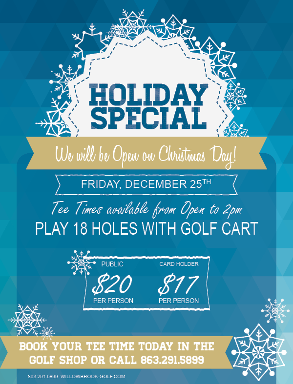 CHRISTMAS SPECIAL WILLOWBROOK GOLF COURSE WINTER HAVEN FL 33881