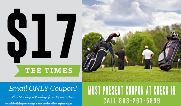 August Monday & Tuesday Deal WILLOWBROOK GOLF COURSE WINTER HAVEN FL 33881
