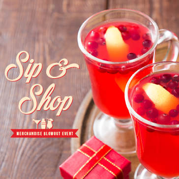 Sip & Shop Merchandise Sale