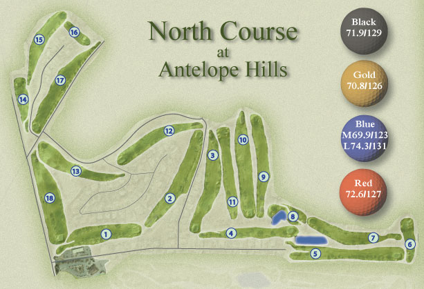 AH North Course Map
