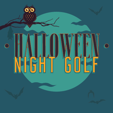 Halloween Night Golf Event at Golf course
