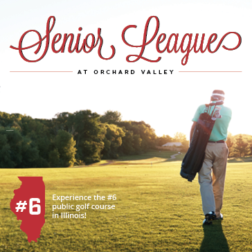 Senior Men's League at Orchard Valley Golf Course in Aurora, Illinois