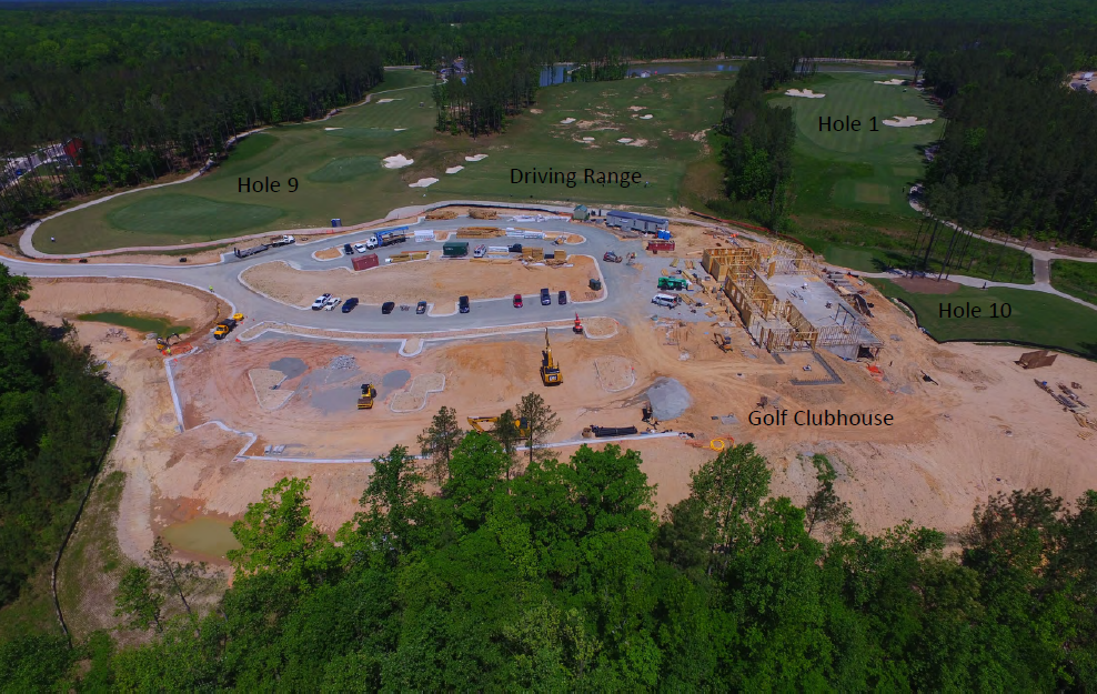 Magnolia Green new golf clubhouse and restaurant construction photos - May 2017