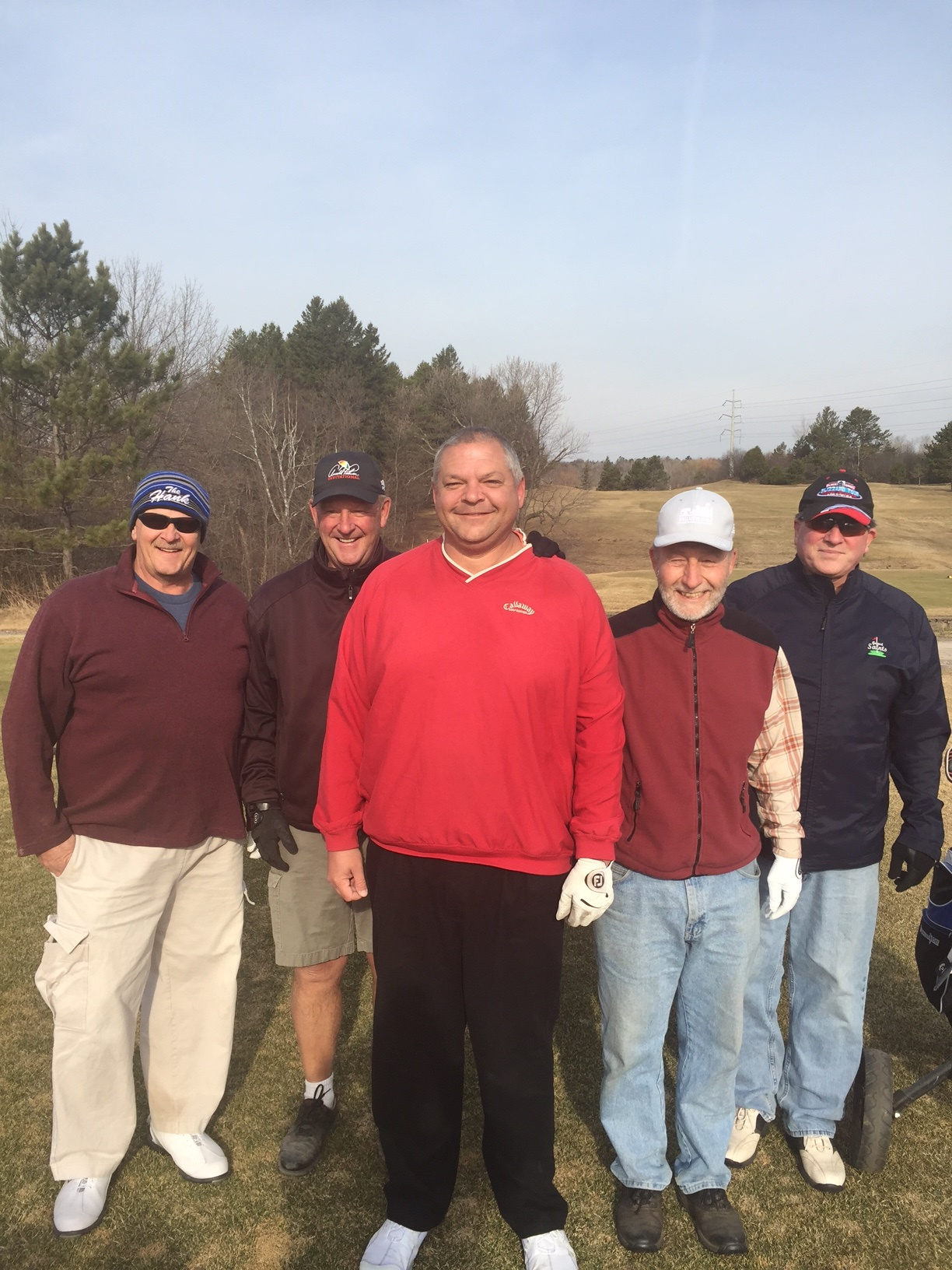 First Foursome of 2017 at Enger Park Golf Course