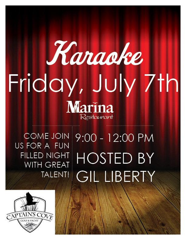 Captain's Cove Karaoke - Hosted by Gil Liberty