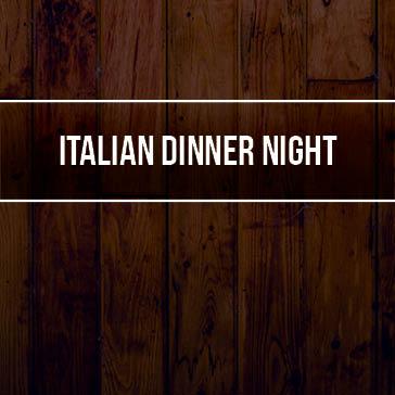 Italian Dinner web banner for event at fernandina beach golf florida