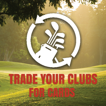 Trade your clubs for cards at the golf course