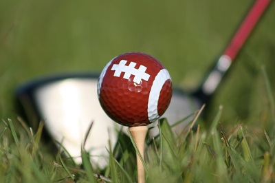 football on golf ball