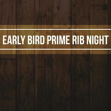 Early Bird Prime Rib Web banner for Event at Colony West Golf Club