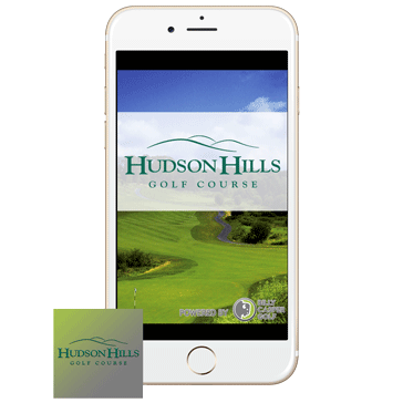 App Phone with Icon Web Banner at Hudson Hills Golf Course