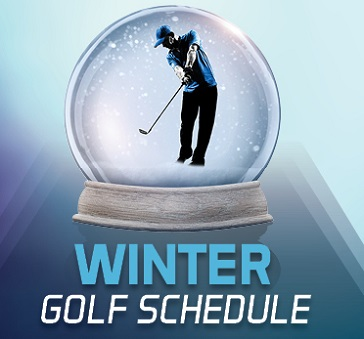 Winter Golf Banner at Lake Ridge Golf Course