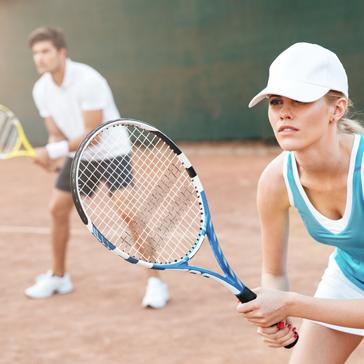 man women guy girl playing tennis
