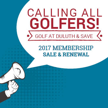 Season Pass Sale 2017 at Duluth Golf Courses in Duluth, Minnesota