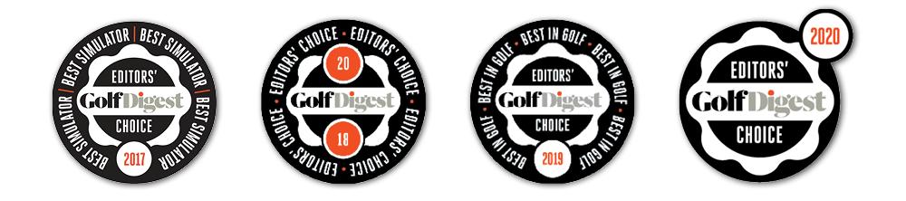 2017 2018 2019 2020 Golf Digest Award Logos for ZSTRICT