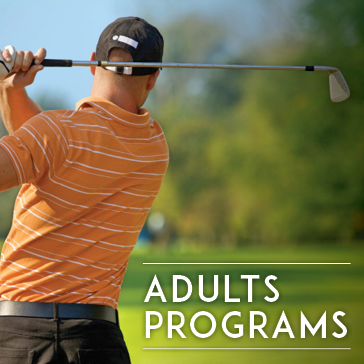 Adult Programs, golf academy instruction lessons improve