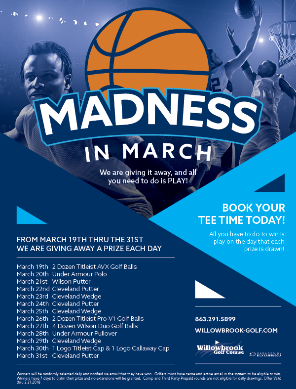 MARCH MADNESS WILLOWBROOK WINTER HAVEN 33881 FLYER