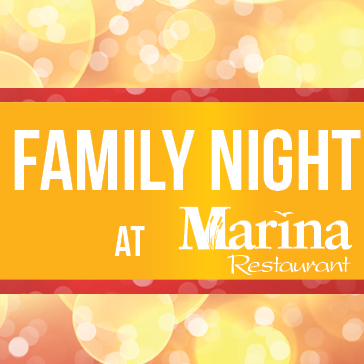 Family Dinner Night at the Marina Restuarant located in Captains Cove Golf and Yacht Club in greenbackville, va