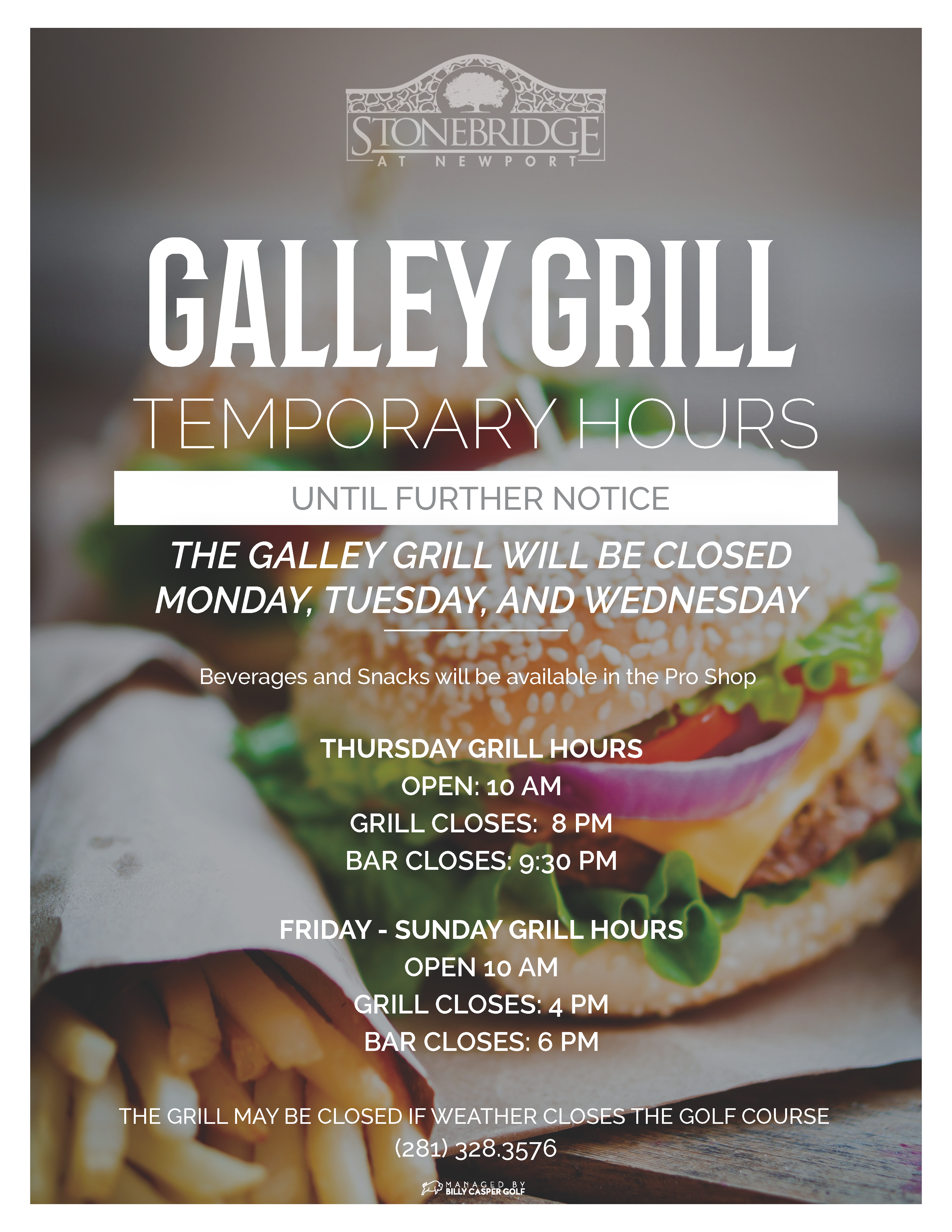 Galley Grill Hours