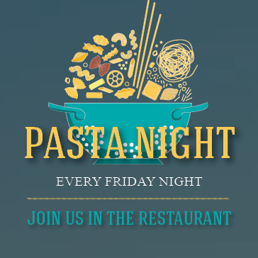 Pasta Night at the Marina Restuarant located in Captains Cove Golf and Yacht Club in greenbackville, va