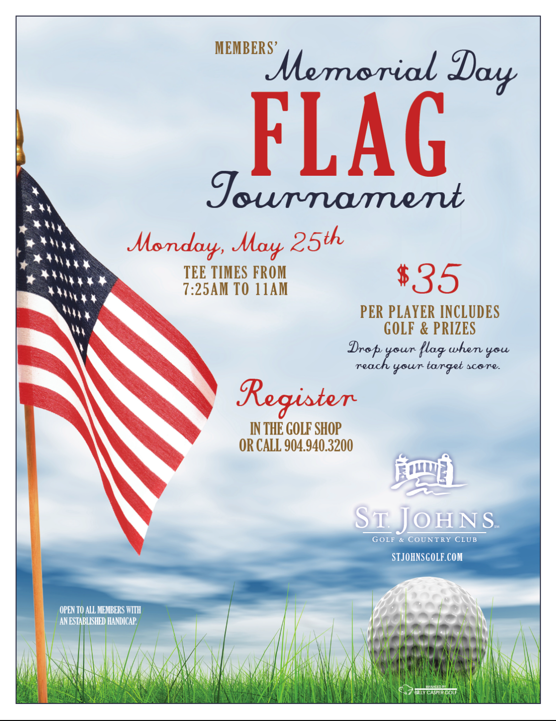 Flag Tournament 5/25/15 St. Johns Golf & Country Club St. Augustine, FL