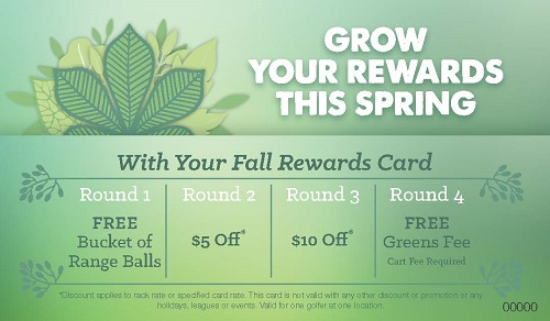Grow Your Rewards - Spring Rewards Card for Golf