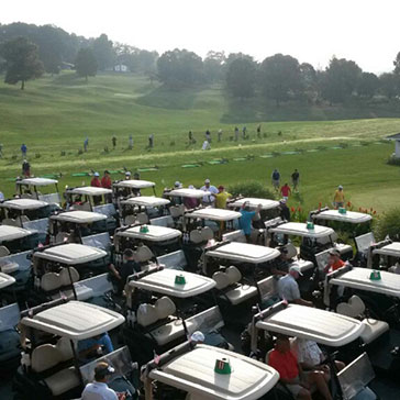 Guests getting ready to enjoy a fun day of golf!
