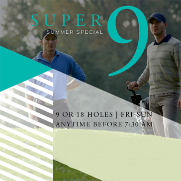 Super 9 Summer Special at RedGate Golf Course