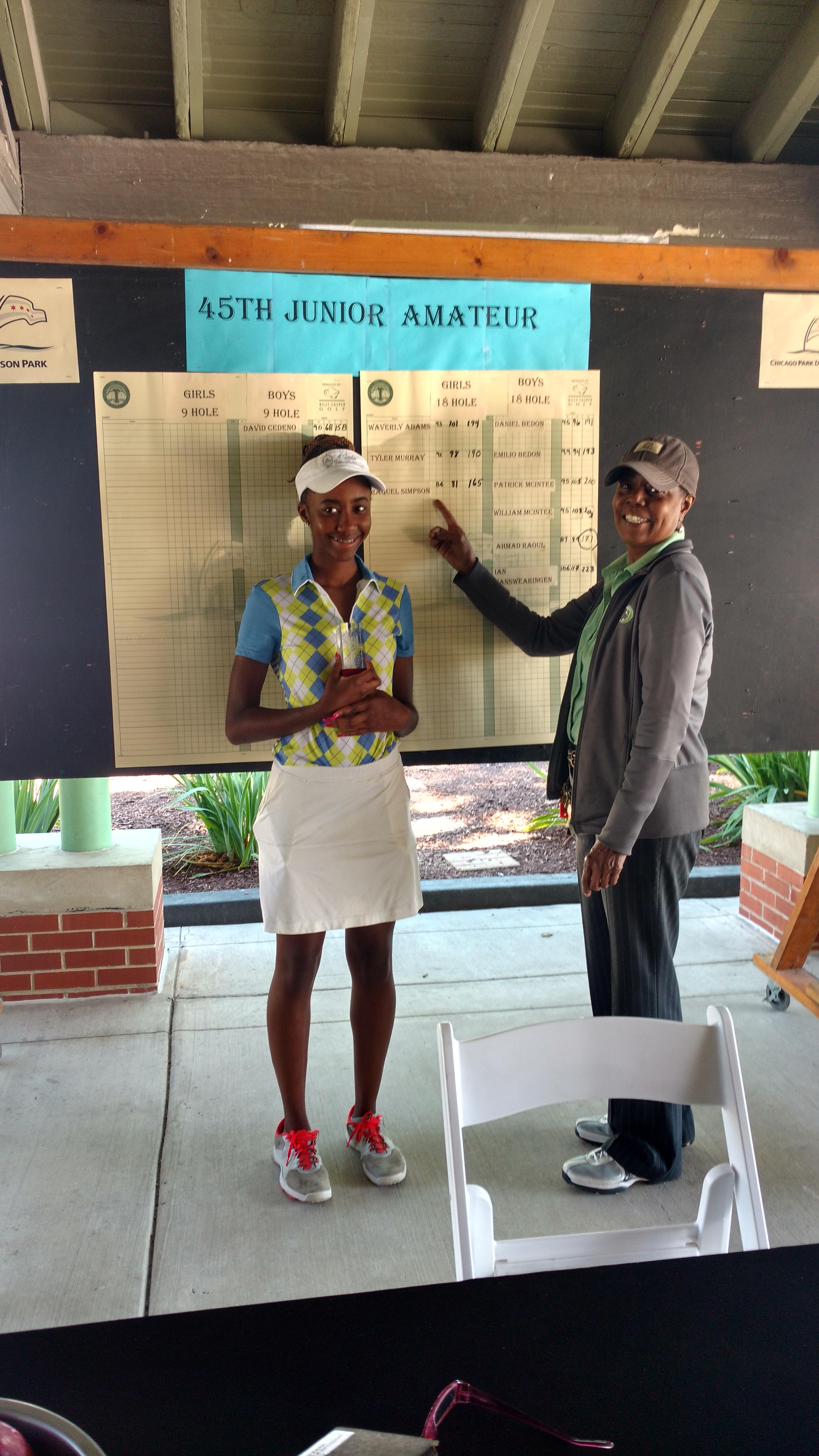 45th Junior Amateur Girls 18 Hole Winner Raquel Simpson